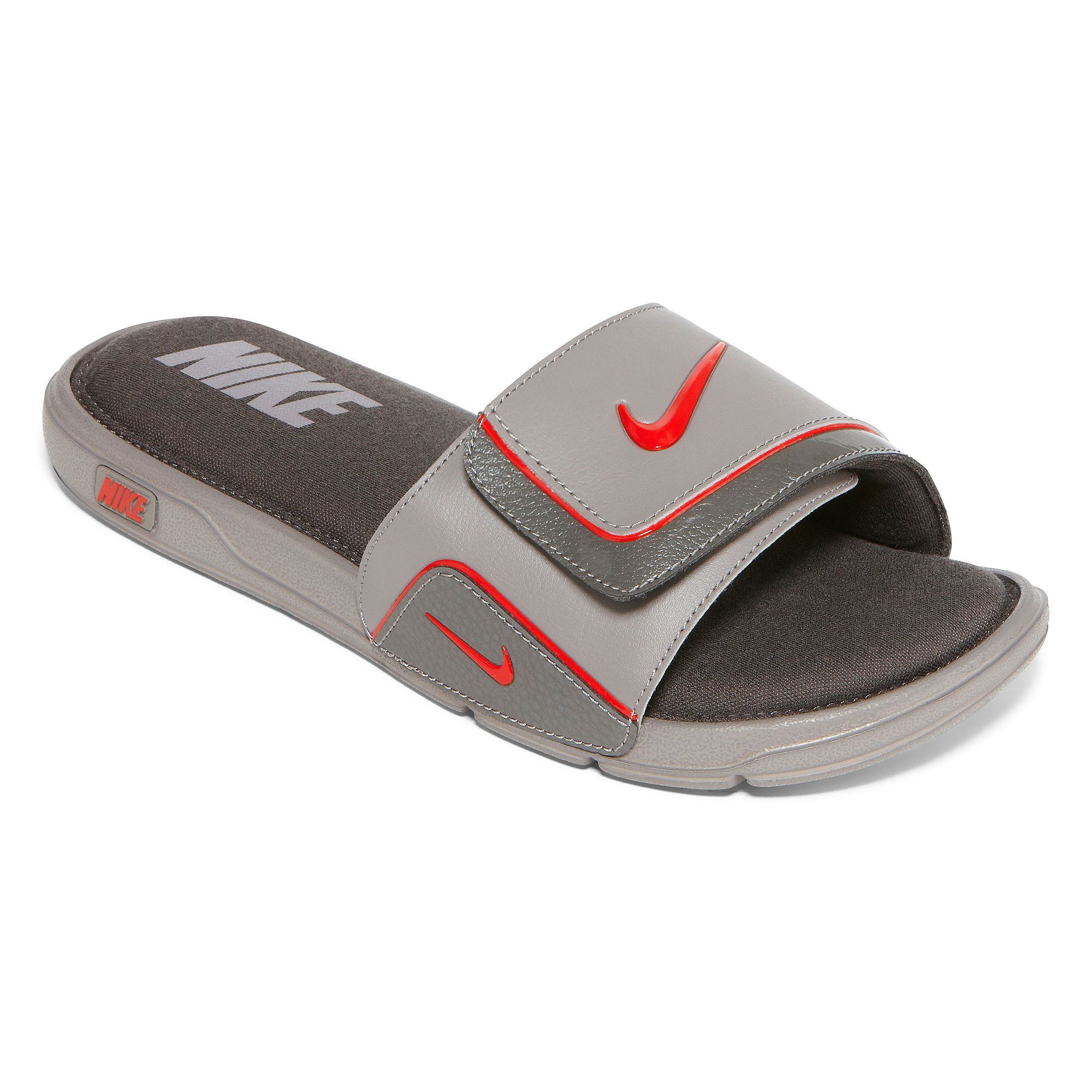 white blackmetallic silver men shoes nike p slide sandal winter outlet autumn shop comforter comfort autumnwinter metallic c us silverwhite black