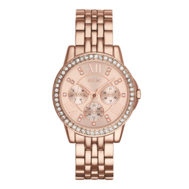 jcpenney.com | Relic® Womens Crystal-Accent Rose-Tone Bracelet Watch ZR15755