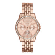 Relic® Womens Crystal-Accent Rose-Tone Bracelet Watch