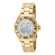 Invicta® Pro Diver Womens Gold-Tone Bracelet Sport Watch 17698