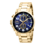Invicta® I-Force Mens Gold-Tone Chronograph Sport Watch