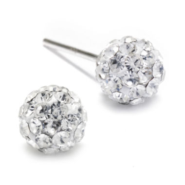jcpenney.com | Crystal Sterling Silver Ball Stud Earrings