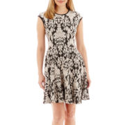 Danny & Nicole® Sleeveless Jacquard Knit Dress - Petite