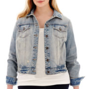Stylus™ Destructed Denim Jacket - Plus