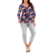 Stylus™ 3/4-Sleeve Peasant Top or Slim Ankle Jeans