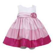 Bonnie Jean® Sleeveless Colorblock Dress - Girls newborn-9m