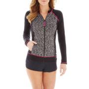 Speedo® Long-Sleeve Rash Guard Swim Top or Stretch Board Shorts