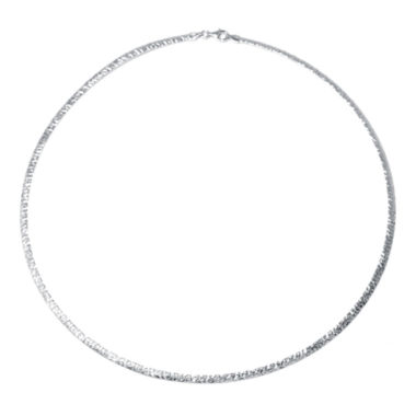 jcpenney.com | Sterling Silver Diamond-Cut Omega Necklace