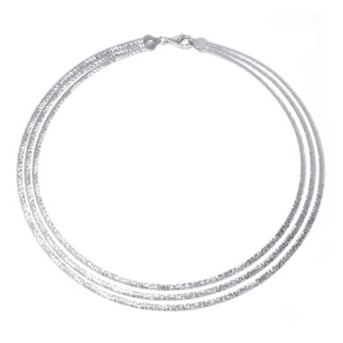 jcpenney.com | Sterling Silver Diamond-Cut 3-Strand Omega Necklace
