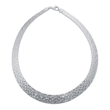 jcpenney.com | Sterling Silver Diamond-Cut Omega Collar Necklace