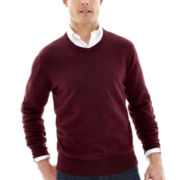 St. John's Bay® Heathered Fine-Gauge Sweater