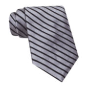 Claiborne® Broad Textured-Stripe Tie