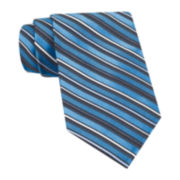 Claiborne® Striped Satin Texture Tie