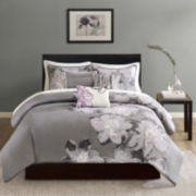 Madison Park Alicia 6-pc. Printed Duvet Cover Set