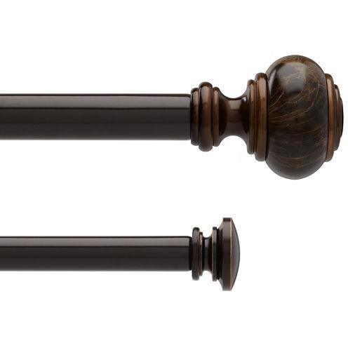 Liz Claiborne® Marble Knob Double Adjustable Curtain Rod