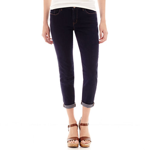 a.n.a® Mid-Rise Rolled Denim Cropped Pants - Tall