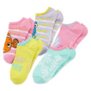 Disney Finding Nemo 5-pk. No-Show Socks - Girls