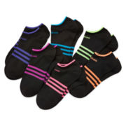 adidas® 6-pk. Superlite Low-Cut Socks - Girls