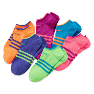 jcpenney.com | adidas® 6-pk. Superlite No-Show Socks - Girls