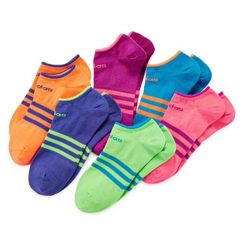 adidas® 6-pk. Superlite No-Show Socks - Girls