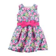 Carter's® Floral Print Sleeveless Dress - Preschool Girls 4-6x