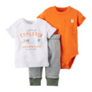 Carter's® Orange and Olive 3-pc. Set - Baby Boy newborn-24m