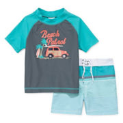 Carter's® 2-pc. Beach Patro Rashguard Set - Baby Boys 3m-24m