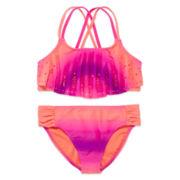 Angel Beach 2-pc. Flounce Bikini Swimsuit - Girls 7-16