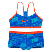 Nike® 2-Pc. Swoosh Swimsuit - Girls 7-16