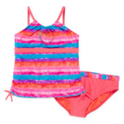 Angel Beach 2-pc. Sunset Striped Tankini Swimsuit - Girls Plus