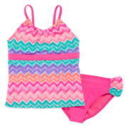 Angle Beach 2-pc. Chevron Tankini Swimsuit - Girls 7-16