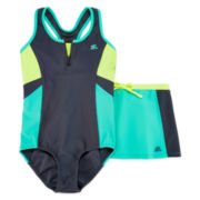 ZeroXposur® Swimsuit and Skirt Set - Girls 7-16