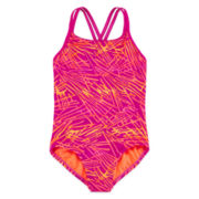 Nike® Scribble Print Swimsuit - Girls 7-16