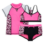 ZeroXposur® Rash Guard and 2-pc Swimsuit Set - Girls 7-16