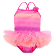 Angel Beach Ombré Tutu Swimsuit - Toddler Girls 2t-5t