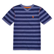 U.S. Polo Assn.® Striped V-Neck Tee - Boys 8-18