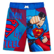 Superman Swim Trunks - Toddler Boys 2t-4t