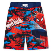 Spider-Man Swim Trunks - Preschool Boys 4-7