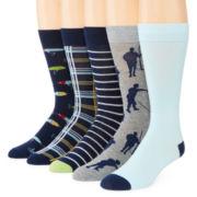 Stafford® Mens 5-pk. Cotton-Rich Crew Socks - Big & Tall