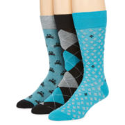 Stafford® Mens 3-pk. Cotton-Rich Crew Socks - Big & Tall
