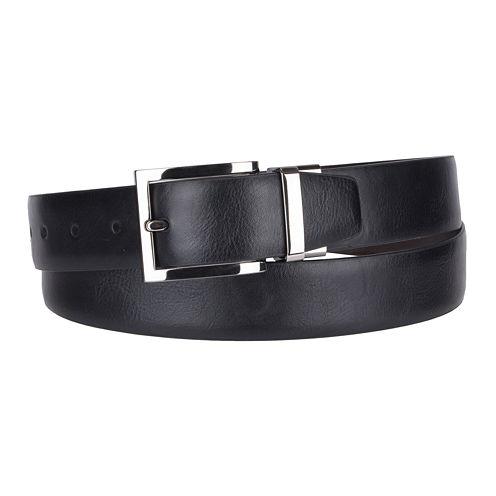 JF J. Ferrar® Leather Edge Reversible Belt - Big & Tall