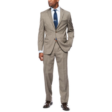 jcpenney.com | Collection by Michael Strahan Brown Tic Plaid Suit Separates -  Classic-Fit