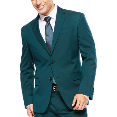 JF J. Ferrar® Teal Suit Jacket - Super Slim Fit