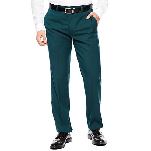 JF J. Ferrar® Teal Flat-Front Suit Pants - Super Slim-Fit