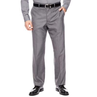 Men's JF J. Ferrar® Gray Sharkskin Flat Front Classic-Fit Suit Pants