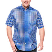 Izod® Short-Sleeve Easy Care Woven Shirt - Big & Tall
