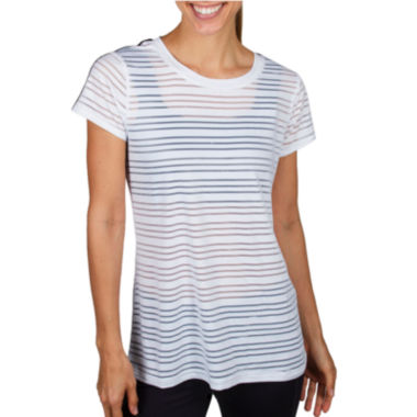 jcpenney.com | Jockey® Short-Sleeve Mesh Striped T-Shirt