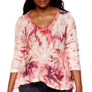 Unity® 3/4-Sleeve Crochet Blouse