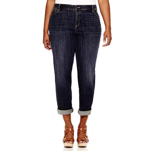 Liz Claiborne® City-Fit Boyfriend Skinny Jeans - Plus