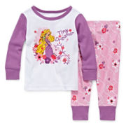 Disney Baby Collection 2-pc. Rapunzel Pajama Set - Baby Girls newborn-24m